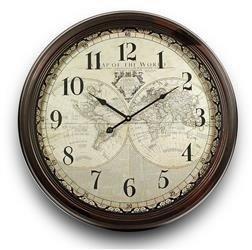 Zegar Ścienny Retro Mapa Świata 62x62cm