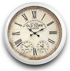 Zegar Ścienny Retro Old Town Duży 70x70cm