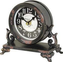 Zegar kominkowy ozdobny metal brąz