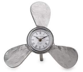 Zegar metalowa rama śmigło wys. 32 cm