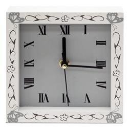 Zegar wiszący ozdobny stylowy biały klasyczny