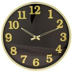 Zegar wiszący ozdobny stylowy czarno złoty
