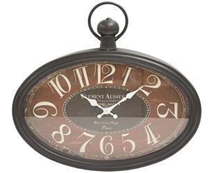 Zegar wiszący ozdobny stylowy czarny brązowy