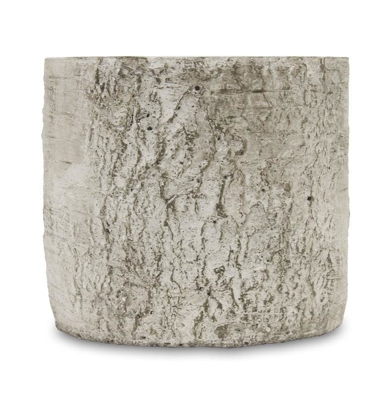 Doniczki Ceramicznedonica Wzór Kory Brzozy H16