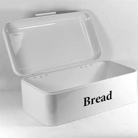 Chlebak ze stali emaliowanej biały