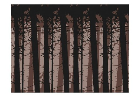 Fototapeta - Abstract dark forest