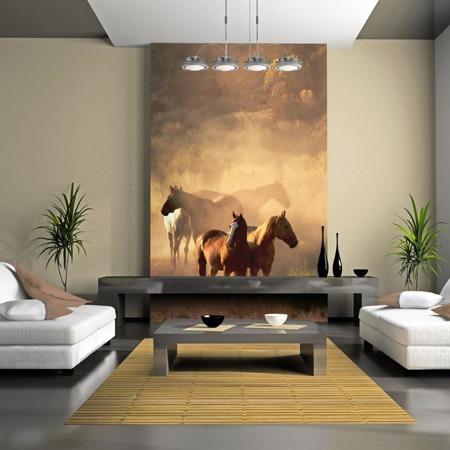 Fototapeta - Dzikie konie na stepie
