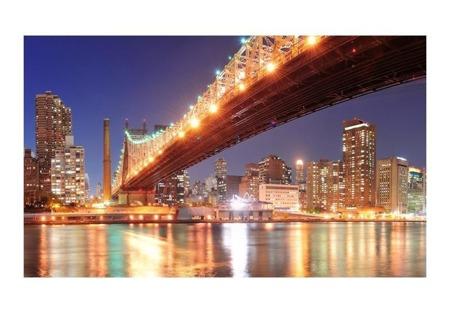 Fototapeta - Fiery Brooklyn Bridge