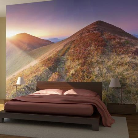Fototapeta - Kolorowy jesienny krajobraz górski