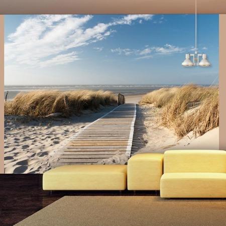 Fototapeta - Plaża Morza Północnego, Langeoog