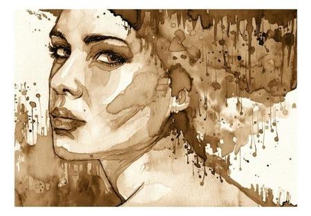 Fototapeta - Portret kobiety (Sepia)