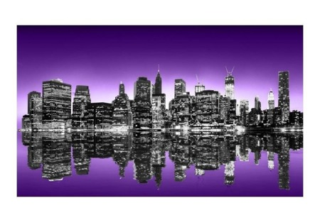 Fototapeta - The Big Apple in purple color