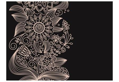 Fototapeta - motyw kwiatowy - ornament