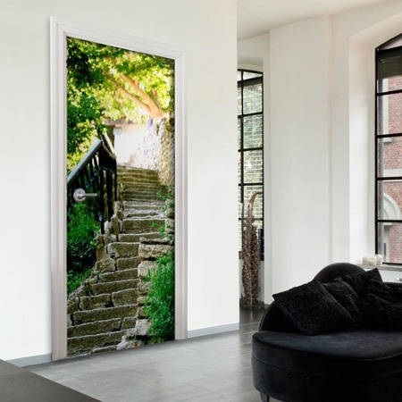 Fototapeta na drzwi - Kamienne schody