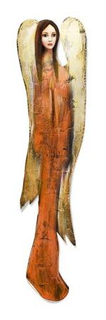 """Obraz """"Anioły"""" ręcznie malowany 98x22 cm"""