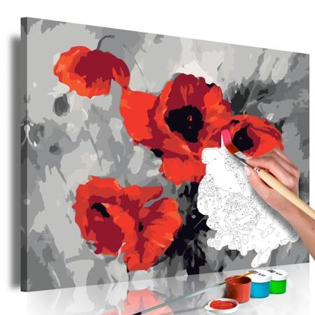 Obraz do samodzielnego malowania - Bukiet maków