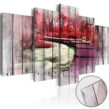 Obraz na szkle akrylowym - Czerwona jesień [Glass]