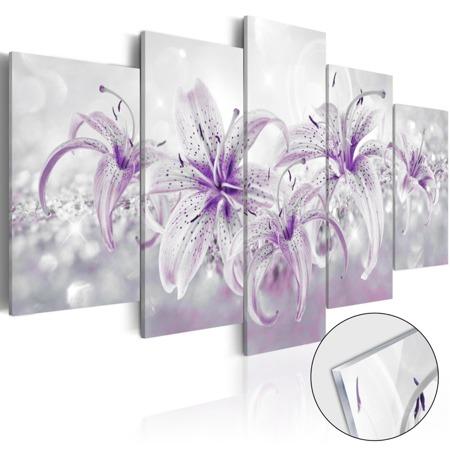 Obraz na szkle akrylowym - Fioletowe gracje [Glass]