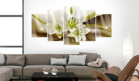 Obraz na szkle akrylowym - Nowoczesna lilia [Glass]