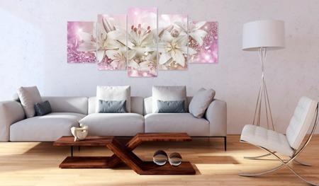 Obraz na szkle akrylowym - Różowe zaloty [Glass]