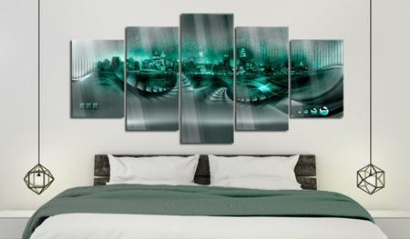 Obraz na szkle akrylowym - Szmaragdowe miasto [Glass]