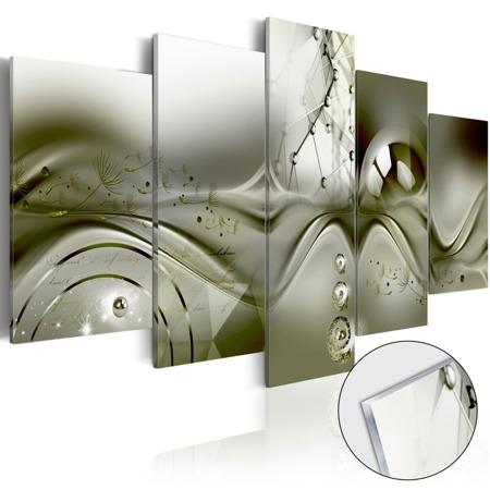 Obraz na szkle akrylowym - Zielona konfiguracja [Glass]