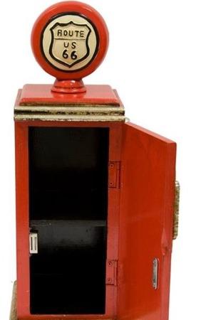 Szafka stylizowana półka nocna drewno czerwony